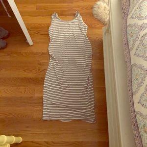 Imanimo maternity dress sleeveless striped